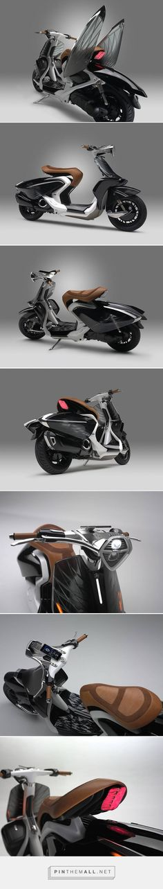 Yamaha Scooter Concept with Swan Wings – Fubiz Media - created via https://pinthemall.net