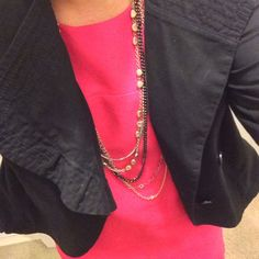 Loft Ann Taylor Short Black Jacket Never worn. Cute girly details. A symmetrical closing with ruffle like detail. LOFT Jackets & Coats Blazers