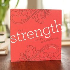 "Holley Gerth - Strength - Canvas Wrapped 6"" Ploque image"