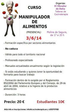 Curso Manipulador de Alimentos en Molina de Segura (Murcia)