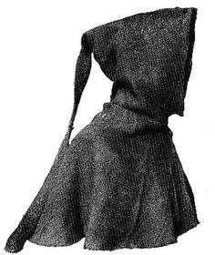 This 14th century woollen hood was found in Herjolfsnes, Greenland (image Danish national museum, Copenhagen)