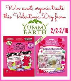 YumEarth Organic Lollipop giveaway. Ends 2/16