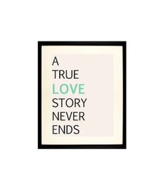 Poster mit Spruch Love Story // poster with writing by J.e.wels & Graphics via DaWanda.com