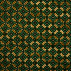 Green and Yellow Shweshwe Fabric