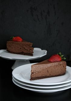Čokoládový cheesecake – The Olive Raw Food Recipes, Sweet Recipes, Dessert Recipes, Czech Desserts, Cake Recept, Cheesecake Brownies, Mini Cheesecakes, Healthy Cake, Piece Of Cakes