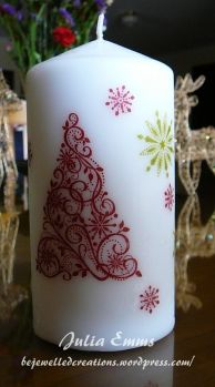 christmas candles - Great gift to make! Kids are going to be doing this!