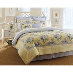 Laura Ashley Caroline 4-piece Comforter Set | Overstock.com Shopping - The Best Deals on Comforter Sets