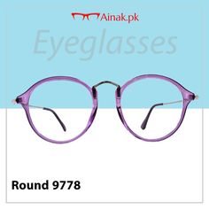 bccd3c922962 Embrace your look with these purple round eyeglasses.