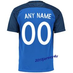 UEFA Euro 2016 France Home Jersey Any Name Number Home Jersey