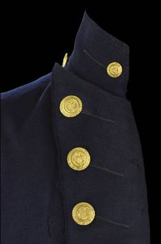 Admiral Lord Nelson's Extant Garments get a separate gallery, too: All images courtesy of the National Maritime Museum unless otherwise noted. Larp, Royal Navy Uniform, Military Chic, Military Coats, Navy Uniforms, Military Uniforms, American Uniform, Military Inspired Fashion, Steampunk Jacket