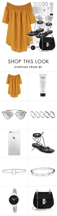 """""""Untitled #391"""" by mari-mmp ❤ liked on Polyvore featuring MANGO, Christian Dior, ASOS, Michael Kors, Cartier, Christian Van Sant and Chloé"""