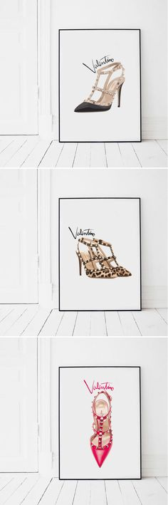 Find the perfect pieces for your gallery wall from the Valentino Rockstud printable fashion wall art collection from Pinch of Style