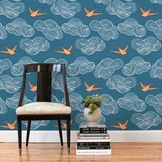 Removable wallpaper. Perfect for renters or kids rooms