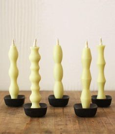 The NANAO boxed set includes 5 beautiful modern shaped handmade Japanese candles. Burn time is 90 minutes each. Handcrafted by. Candle Stand, Candle Set, Candle Holders, Stationary Supplies, Paraffin Candles, Candle Snuffer, Japanese Design, Raw Materials, Porta Velas