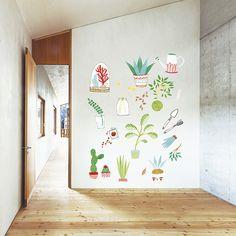 Vinilo Mis plantas by Lady Desidia ::: Chispum wall art sticker decals