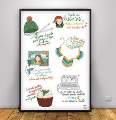 #Blogersando #Navidad #Ilustración #Regalos #handmade #láminas #craftandmusic