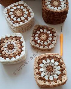 Transcendent Crochet a Solid Granny Square Ideas. Inconceivable Crochet a Solid Granny Square Ideas. Granny Square Häkelanleitung, Granny Square Crochet Pattern, Crochet Squares, Crochet Granny, Crochet Motif, Crochet Designs, Crochet Crafts, Crochet Yarn, Crochet Patterns