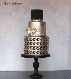 Platinum wedding cake for a special ocassion