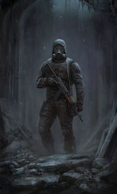 Get out of here, Stalker! Post Apocalypse, Apocalypse World, Apocalypse Survival, Character Concept, Character Art, Concept Art, Character Design, Gas Mask Art, Gas Masks