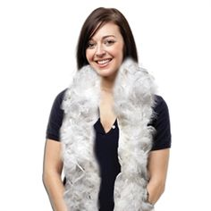 6 Foot Long White Feather Boas