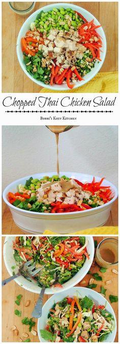 Bobbi's Kozy Kitchen: Chopped Thai Chicken Salad