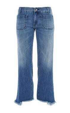 Lord jim cropped jeans with frayed cuffs by SEAFARER Now Available on Moda Operandi
