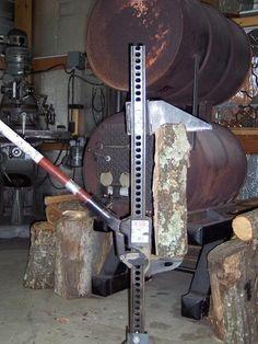 Homemade firewood splitter