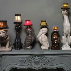 Animal-inspired lamps by atelier abigail ahern