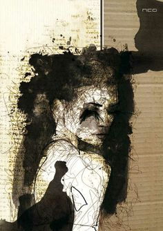 Mesmerizing Mixed Media Portraits by Florian Nicolle by rosalyn