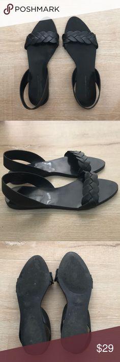 175aff525ff5 Zara Braided Black Leather Sandals These braided black leather sandals form  Zara are in excellent condition