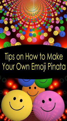 Tips on How to Make Your Own Emoji Pinata Emoji Theme Party, Emoji Party Supplies, Party Themes, 5th Birthday Party Ideas, 4th Birthday, Emoji Pinata, Kids Party Entertainers, Pinata Fillers, Backpack Decoration