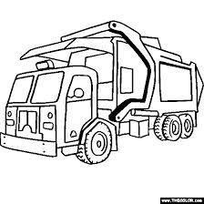 Put All Garbage Inside Truck Coloring Pages Truck Coloring Pages