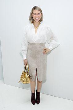 Pin for Later: Les Stars Sont au premier Rang Pour la Fashion Week de New York Zosia Mamet Au défilé Jill Stuart.