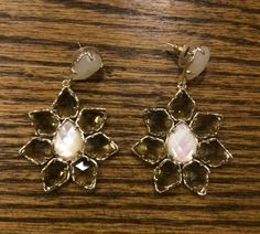 Tuesday Tip: Add Some Sparkle  Sometimes all you need to brighten an outfit - or your day - is a great pair of earrings. I purchased this set of Kendra Scott beauties and even got to design them myself! You pick out the stones and they add them to the fittings. So fun! Can't wait to wear them with all my spring clothes. ~ Pat. #tuesdaytip #asburylanestyle #kendrascott