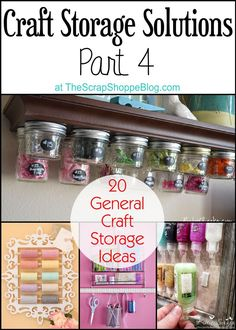 It's week 4 of Craft Storage Solutions! So far we've cover Fabric Storage, Thread & Bobbin Storage, and Scrapbook Paper Storage. Today I am sharing 20 General Craft Storage Solutions! There are some really ingenious ideas here, and I hope they inspire you in your own craft space. I know they are inspiring me! Speaking [...]