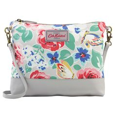 Padstow Rose Small Cross Body Canvas & Leather Bag | Cross Body Bags | CathKidston