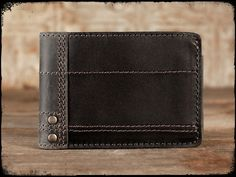 Bi-Fold Wallet w/Pick Holder; Aged Steel/Carbon Black $59