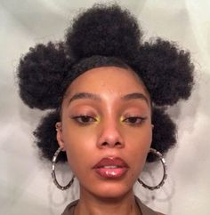 Girls Natural Hairstyles, Girl Hairstyles, Braided Hairstyles, Black Hairstyles, Hair Inspo, Hair Inspiration, Curly Hair Styles, Natural Hair Styles, Wedding Makeup For Brown Eyes