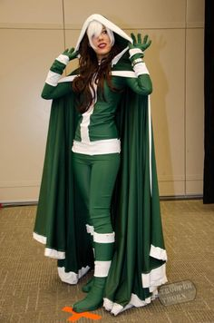 X-Men | Rogue | Redhead Costume/Cosplay |  Though technically a brunette, Rogue's hair has enough reddish highlights that a redhead could pull it off.