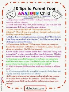 10 Tips to Parent Your Anxious Child - the healing path with children
