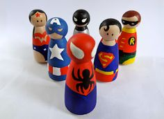 Make your own peg people superheroes.