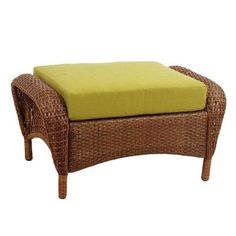 Beautifully Designed, This Martha Stewart Living Charlottetown Brown  All Weather Wicker Patio Lounge Chair With Green Bean Cushions Will Accent  Your Patio.