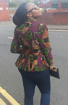 cool blazer African Outfits, African Dresses For Women, African Attire, African Wear, African Fashion Dresses, African Women, Fashion Outfits, African Print Clothing, African Print Dresses