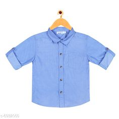 Checkout this latest Shirts Product Name: *ShopperTree Blue Solid Shirt For Boys.* Fabric: Cotton Sleeve Length: Long Sleeves Pattern: Solid Multipack: 1 Sizes:  2-3 Years (Chest Size: 26 in)  Easy Returns Available In Case Of Any Issue   Catalog Rating: ★3.9 (269)  Catalog Name: Flawsome Funky Boys Shirts CatalogID_1106914 C59-SC1174 Code: 343-6932050-9411