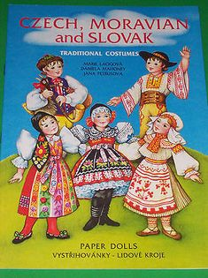 Gorgeous-CZECH-MORAVIAN-AND-SLOVAKIAN-COSTUMES-Paper-Doll-Book