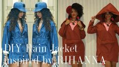 DIY Rain Jacket inspired by Rihanna + Shop Fabric Online