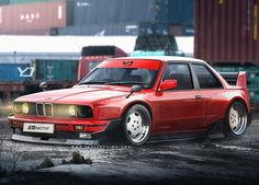 Some love for the BMW E30 m3 today.  Nothing major really, just slapped a kit on.  __ __ #cars #bmw #m3 #m3e30 #cardesign #aftermarketdesign #design #inbound #artomotive #yasid #yasiddesign