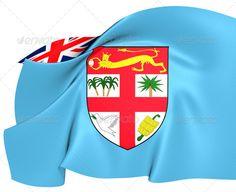 Flag of Fiji ...  3d, Fiji, background, close-up, curve, emblem, ensign, fijian, flag, fluttering, full, horizontal, illustration, insignia, macro, malanesia, matanitu ko viti, national, render, republic, state, symbol, three-dimensional, wave, waving, wind