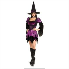 SEXY WITCH - SCRET WISHES HALLOWEEN COSTUME SIZE MEDIUM 10-12 on eBid United Kingdom