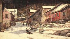 Baraque ou maison ? ... le rêve - ©Frits Thaulow - 1847-1906